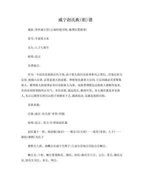 贵州威宁籍赵氏族谱.doc