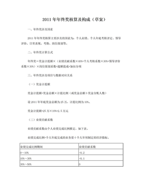 培训中心年终奖金分配方案2011年.doc