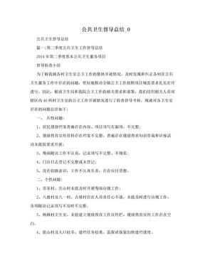 公共卫生督导总结_0.doc