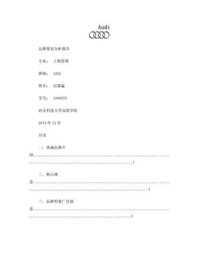 Audi 品牌策划报告.doc