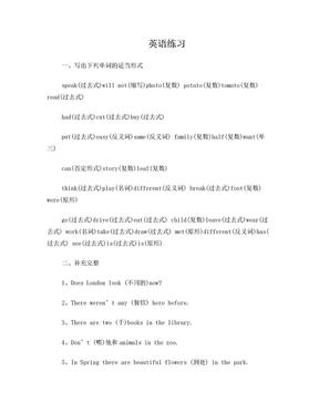 英语练习(小学六年级).doc