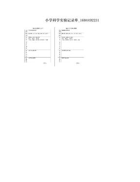 小学科学实验记录单_1604492231.doc