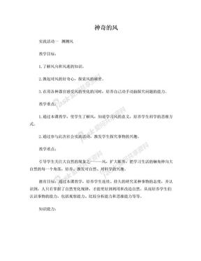 综合实践活动 第四章  神奇的风.doc