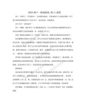 2016双十一活动总结_双11总结.doc