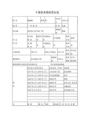 干部基本情况登记表(样表).doc