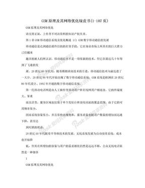 GSM原理及其網絡優化綠皮書(1-107頁).doc