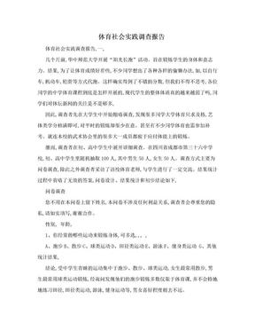 体育社会实践调查报告.doc