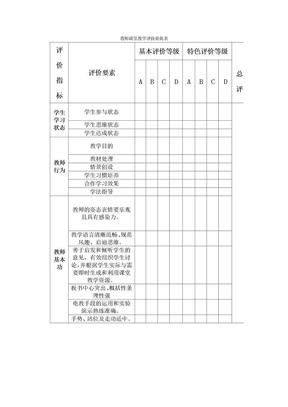教师课堂教学评价量化表.doc