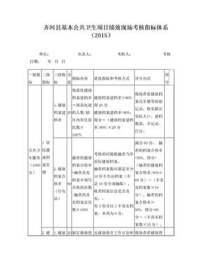 基本公共卫生服务项目绩效考核方案 (修改).doc