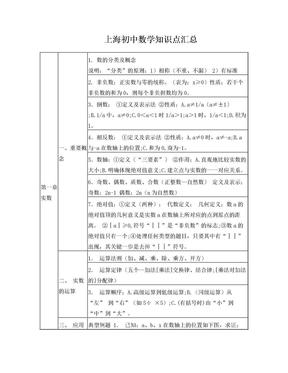 上海初中数学知识点汇总.doc