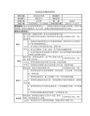 常务副总经理职务说明书7114345841.doc