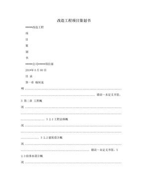 改造工程项目策划书.doc