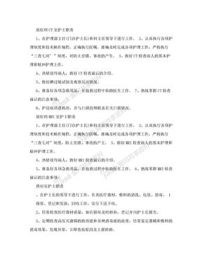 放射科CT室护士职责.doc