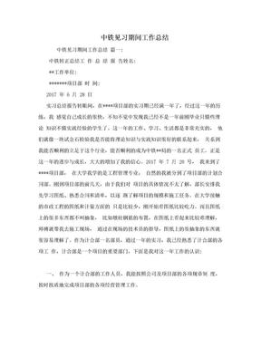 中铁见习期间工作总结.doc