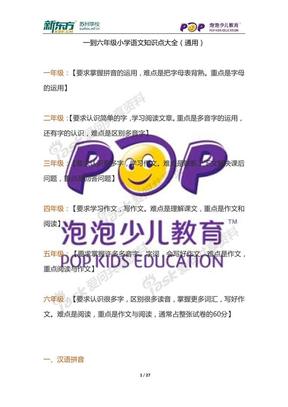 [1~6]一到六年级小学语文知识点大全(通用).pdf