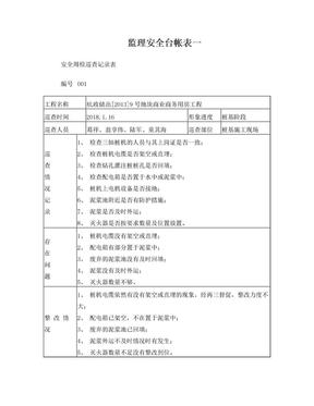 安全周检巡查记录表.doc