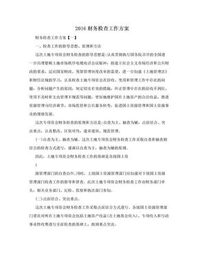 2016财务检查工作方案.doc