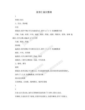 贺普仁效穴整理.doc