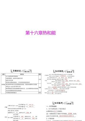 2013年中考物理复习课件热和能.ppt