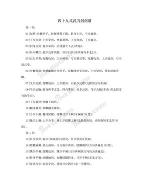四十九式武当剑剑谱.doc