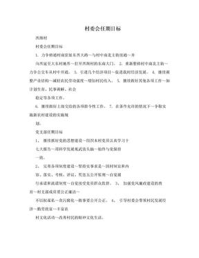 村委会任期目标 .doc