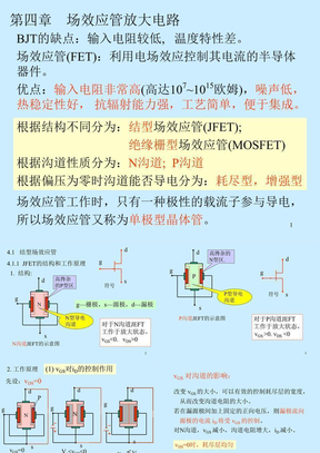 模拟电路第4章场效应管放大电路.ppt