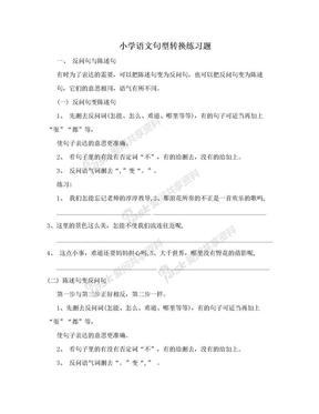 小学语文句型转换练习题.doc