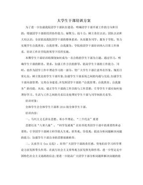 大学生干部培训方案.doc