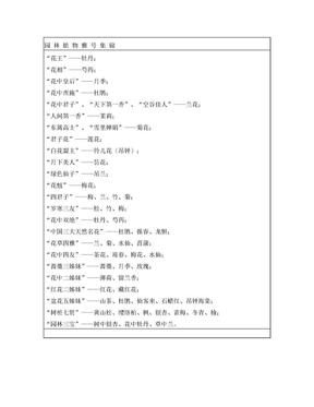 园林植物雅号集锦.doc