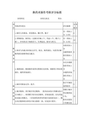 换药术操作考核评分标准.doc