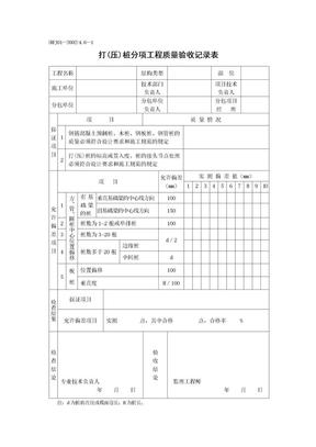 打(压)桩分项工程质量验收记录表.doc