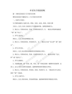 中文句子语法结构.doc