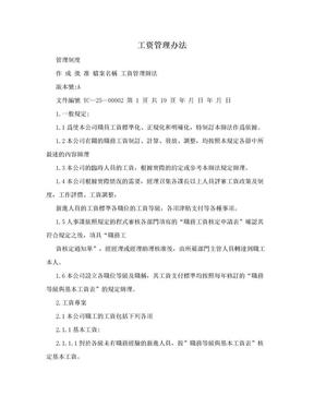 工资管理办法.doc