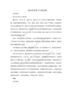 电力公司员工入党自传.doc