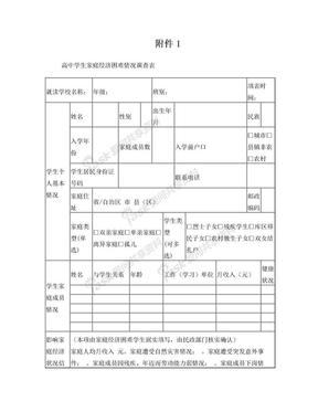 高中学生家庭经济困难情况调查表附1、附2.doc