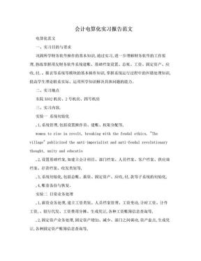 会计电算化实习报告范文.doc