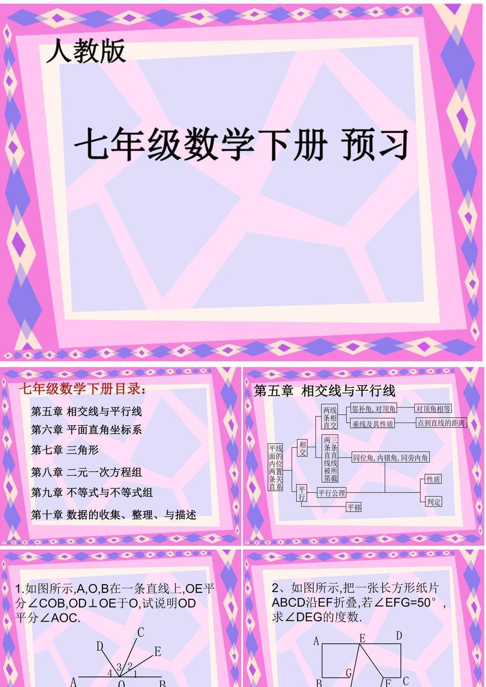 七年级数学下册总复习_全.ppt