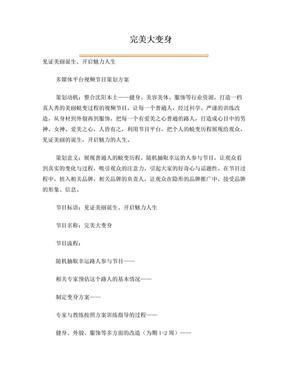 完美大变身网络视频节目策划.doc