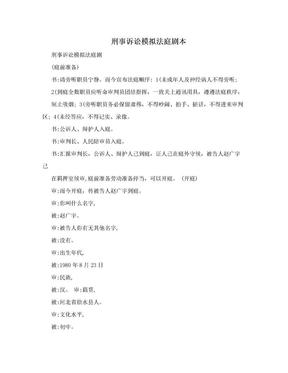 刑事诉讼模拟法庭剧本.doc