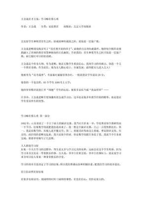 王金战育才方案.doc