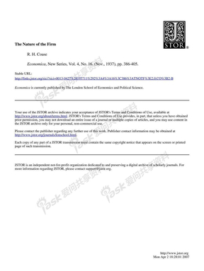 The Nature of the firm - R.H.Coase.pdf