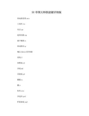 SU草图大师快捷键详细版.doc
