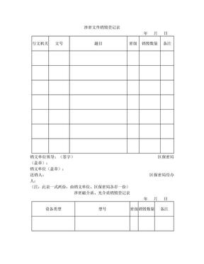 涉密文件销毁登记表.doc
