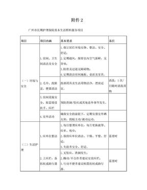 广州长期护理保险基本生活照料服务项目.doc