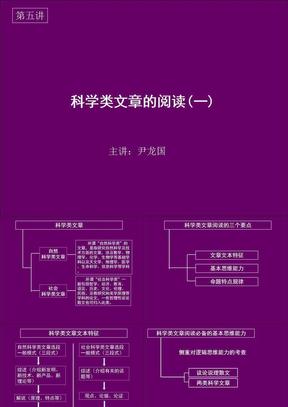新东方高考语文尹龙国科技阅读1.ppt