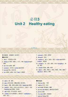 新人教英语词汇句型复习课件必修3 Unit 2 Healthy eating .ppt