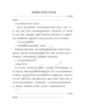 度供热公司年终工作总结.doc