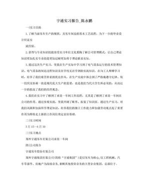 宇通实习报告_陈永鹏.doc