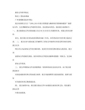 报价文件附件格式格式1投标承诺函.doc