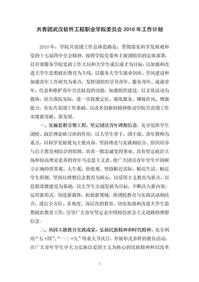 2010年团委工作计划.doc
